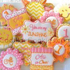 You are my sunshine  #latergram #sun #cadillaccookies #decoratedcookies #youaremysunshine #1stbirthday