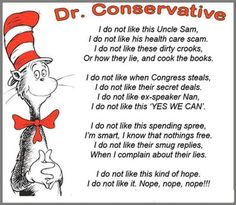 """My new favorite """"Dr. Suess"""" I do not like this Uncle Sam, I do not like his Health Care scam."""