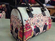 Maharajas on elephants Digital Print Hand bag for only 1049/-