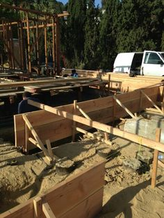Steel Pads and Forms being built at Wrightwood. Ready for concrete! #construction
