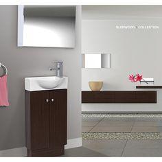 Somette Glenwood 17 Inch Wood Wenge White Bathroom Vanity Ping Great Deals On Vanities