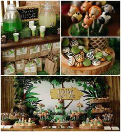 Jungle themed birthday party #partyideas #kidsparty #birthday