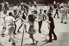Square dancing in gym class