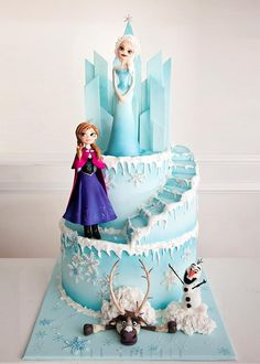 Your Daily Dosage of Cakes — Frozen Cake by Kek Couture …See the cake:. Frozen Doll Cake, Bolo Frozen, Disney Frozen Cake, Disney Frozen Birthday, Disney Cakes, Anna Frozen Cake, Elsa Birthday Cake, Frozen Themed Birthday Cake, Frozen Theme Cake