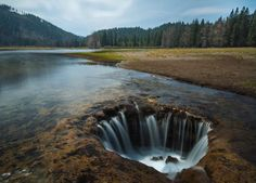 Mount Hood National Forest's Lost Lake is the source of a natural phenomenon.