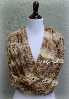 Red Heart Boutique Unforgettable yarn, two skeins, lace scarf crochet pattern