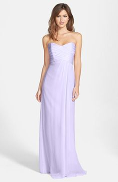 Amsale Strapless Crinkle Chiffon Gown available at #Nordstrom