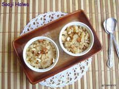 an indian sweet made with semolina,sugar and water
