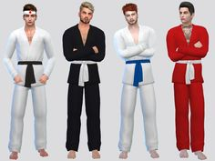 Cuffed Joggers, Jogger Pants, Denim Dye, Die Sims, Formal Pants, Sims Community, Sims 4 Clothing, Dye Shirt, Striped Polo Shirt
