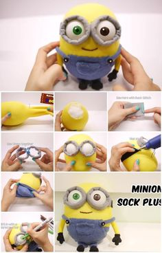 How to Make Minion Bob Sock Plushie