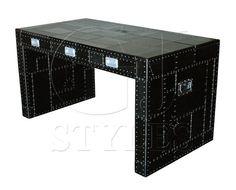 Slab Desk In Black Spitfire – chenzia designs