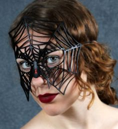 Black Widow Leather mask. $39.00, via Etsy.