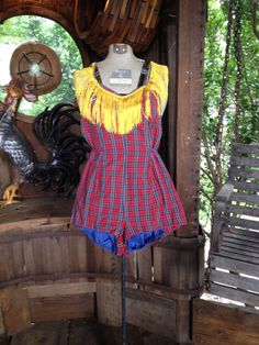 Grand Ol' Opry Dolly Style 50s Fringe Plaid by charmschooldesign