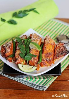 Baked Salmon....spicy salmon baked with Indian spices....from scratch!