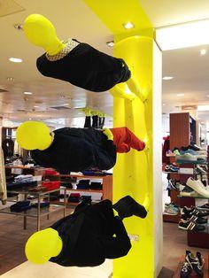 Harvey Nichols instore, going upwards, pinned by Ton van der Veer