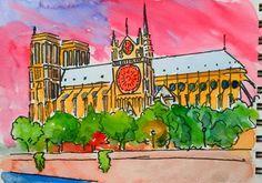Notre Dame dalla Senna Parigi 2016