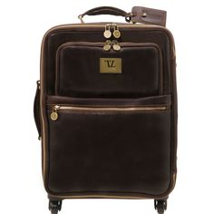 TL Voyager - 4 Wheels vertical leather trolley - TL141390 - Leather Lu – Rehana.co