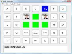 on-screen keyboard/AAC program