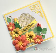 A blog about crafting, scrapbooking, embossing, airbrushing, DIY home decor, creativity and much more! Summer Birthday, Happy Birthday, Heartfelt Creations, My Stamp, Hello Everyone, Flourish, Swirls, Card Stock, Diy Home Decor