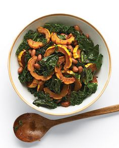 Love Kale? Try it with delicata squash and cranberry beans, Wholeliving.com