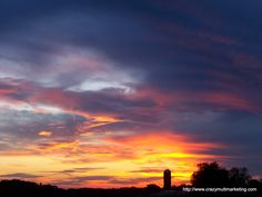 Amazing sunset in Crawford County, PA. Summer 2011