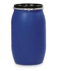 Lidded PE drum with UN approval. Comes with clamping ring for protection against spillage or contamination of the stored liquid. Large opening for easy filling. Made of polyethylene (PE) - highly resistant to chemicals and environmentally friendly. Oclock, Drums, Water Bottle, Rings, Easy, Blue, Percussion, Ring, Drum