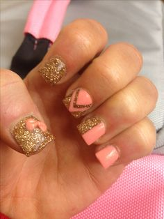 Nail L<3ve! My girl is the best! #Acrylic Nail Art #Acrylic Nail Design #Free Hand Acrylic Bow