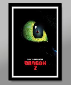 How to Train Your Dragon Minimalist Movie Poster by BigTimePosters, $20.99  for my future theater room