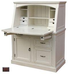 Coastal Secretary Desk, Tobacco - farmhouse - Desks - Custom Furniture World