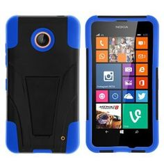 Nokia Lumia 635 Case, Nokia Lumia 630 Case, Dual Layer Shell STRIKE Impact Kickstand Case for Nokia Lumia 635, 630 (AT&T, Sprint, T Mobile, Cricket, Virgin Mobile, Boost Mobile, MetroPCS) from MINITURTLE | Includes Clear Screen Protector and Stylus Pen – Black / Blue Unlocked Smartphones, Smartphones For Sale, Reseller Products, Mobile Cricket, Boost Mobile, Stylus, Screen Protector, Shell, Layers