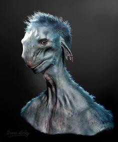 Yeti by Daren Horley on ArtStation. Arte Alien, Alien Art, Alien Creatures, Mythical Creatures, Alien Character, Character Art, Alien Photos, 70s Sci Fi Art, Alien Design