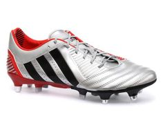 Adidas Predator Incurza XTRX SG Mens Rugby cleats, Size 13.5 Hybridtouch upper - a newly developed synthetic super-soft upper material which offers benefits of both leather and synthetic materials. Predator? technology in the forefoot for more power, swerve and ball contact. Pre-moulded EVA sockliner with additional anti-slip EVA inserts on backside. TRAXION? SG two stud configuration outsole, a c... #adidas #Shoes