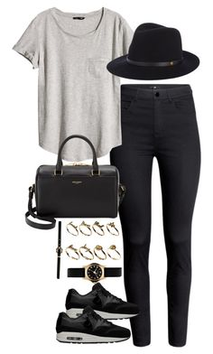 """inspired outfit for errands"" by pagesbyhayley ❤ liked on Polyvore featuring mode, H&M, rag & bone, Yves Saint Laurent, NIKE, ASOS, Marc by Marc Jacobs en Forever New"