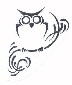 Tattoos Zone: Tribal Owl Tattoo Designs Do These 3 Things. Tattoo Zone, I Tattoo, Tattoo Quotes, Tiny Owl Tattoo, Simple Owl Tattoo, Sketch Tattoo, Wrist Tattoo, Art Tattoos, Owl Tattoo Design