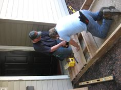 ALA & SPA build a ramp for Paraquad. The ramp project was a big success and a valuable collaborative effort. Kudos to all who came out to make this happen.