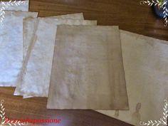 carta invecchiata per creare mappe tesoro