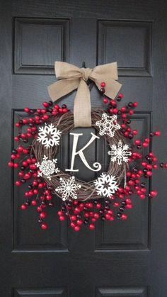Rustic monogram wreath