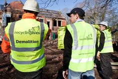 Demolition is part of what we do at Recycling Lives! Recycling, Commercial, Life, Fashion, Moda, Fashion Styles, Upcycle, Fashion Illustrations