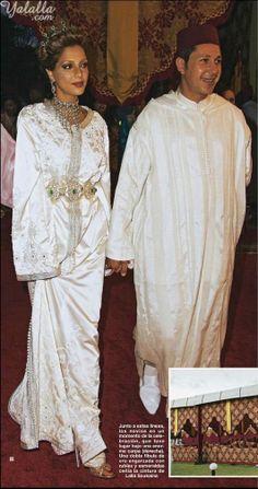 Lalla soukaina of Morocco Bridal Caftan #Wedding