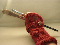 Crochet Fingerless Arm Warmer Glove Crocheted in by artstudio760, $22.00
