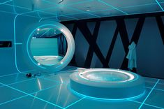 futuristic bathroom film TRON