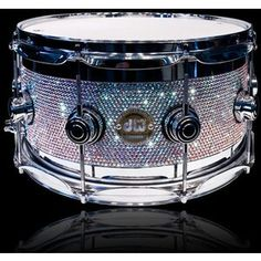 swarovski crystal covered drum