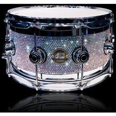 swarovski crystal covered drum