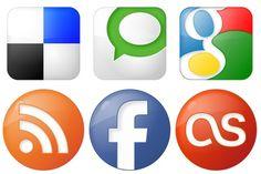 Social Bookmark Icons - Artwork by YOOtheme Social Network Icons, Social Icons, Desktop Icons, Blog Design, Icon Set, Geek Stuff, Branding, Graphic Design, Templates