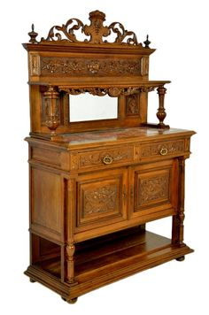 Antique French Victorian Sideboard