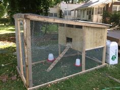 """The Cluck?"""" Our tractor coop on a shoestring budget """"What The Cluck?"""" Our tractor coop on a shoestring budget - BackYard Chickens Community""""What The Cluck?"""" Our tractor coop on a shoestring budget - BackYard Chickens Community Diy Chicken Coop Plans, Backyard Chicken Coops, Building A Chicken Coop, Chickens Backyard, Chicken Ideas, Chicken Pen, Chicken Coup, Small Chicken, Chicken Feeders"""