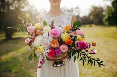 bright + cheery flowers by Ever Thine Events