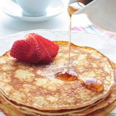 """Cream Cheese """"Pancakes""""  2 oz  cream cheese  2  eggs  1  packet stevia or any sweetner  1/2 tsp  cinnamon   Directions Step-By-Step 1 Put all ingredients in a blender or magic bullet. Blend until smooth. Let rest for 2 minutes so the bubbles can settle. 2 Pour 1/4 of the batter into a hot pan greased with butter or pam spray. Cook for 2 minutes until golden, flip and cook 1 minute on the other side. Repeat with the rest of the batter. 3 Serve with sugar free syrup (or any syrup of your…"""