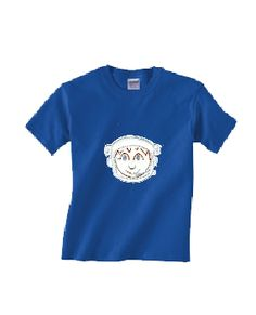 'One small step for mankind ....'   Kids will look out of this world in this   cool space-age spaceman's kids' t-shirt