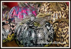 Crafting Rebellion: Vera Bradley Inspired Decoupage Pumpkins
